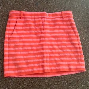 J Crew Striped Mini Skirt